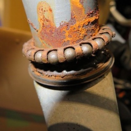 四半世紀程⁉️ノーメンテナンスのまま、乗り続けたクロスバイクのヘッド部分のベアリング